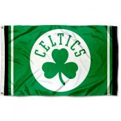 Boston Celtics Shamrock Logo Flag