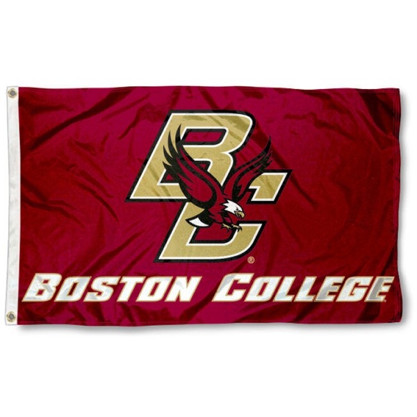 Boston College 3x5 Flag is made of 100% nylon, offers quad stitched flyends, measures 3x5 feet, has two metal grommets, and is viewable from both side with the opposite side being a reverse image. Our Boston College 3x5 Flag is officially licensed by the selected college and NCAA.