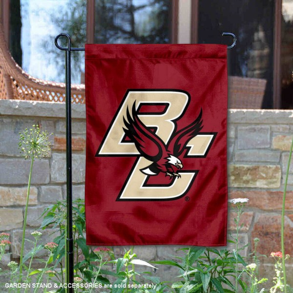 Boston College BC Eagles Garden Flag is 13x18 inches in size, is made of 2-layer polyester, screen printed Boston College Eagles athletic logos and lettering. Available with Same Day Express Shipping, Our Boston College BC Eagles Garden Flag is officially licensed and approved by Boston College Eagles and the NCAA.