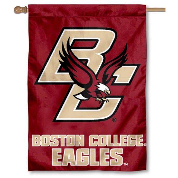 Boston College Eagles 2-Sided Home Flag is a vertical house flag which measures 28x40 inches, is made of 2 ply 100% nylon, offers screen printed NCAA team insignias, and has a top pole sleeve to hang vertically. Our Boston College Eagles 2-Sided Home Flag is officially licensed by the selected university and the NCAA.