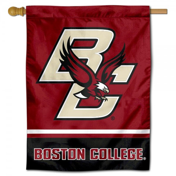 """Boston College Eagles Banner Flag is constructed of polyester material, is a vertical house flag, measures 30""""x40"""", offers screen printed athletic insignias, and has a top pole sleeve to hang vertically. Our Boston College Eagles Banner Flag is Officially Licensed by Boston College Eagles and NCAA."""