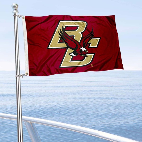 Boston College Eagles Golf Cart Flag is a small 12x18 inches, made of 2-ply polyester with quad stitched flyends, and is double-sided. Our Golf Cart Logo Flags are Officially Licensed and Approved by Boston College and NCAA.