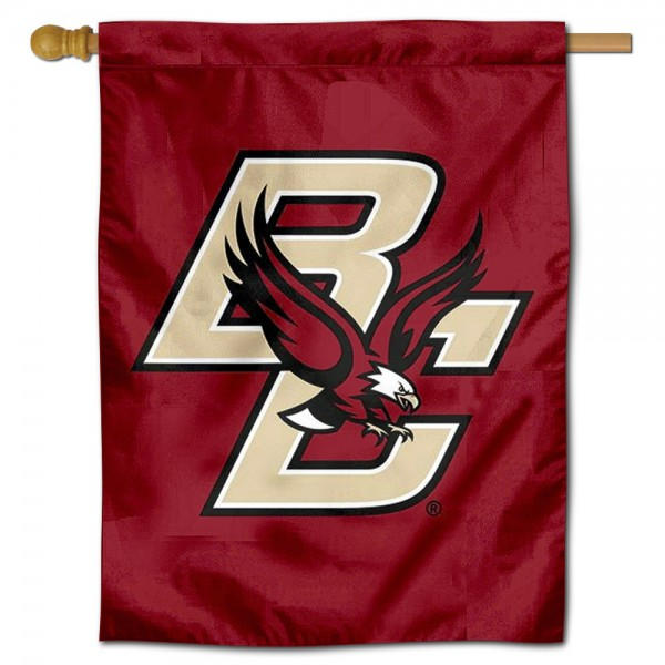 Boston College Eagles Logo Double Sided House Flag is a vertical house flag which measures 30x40 inches, is made of 2 ply 100% polyester, offers screen printed NCAA team insignias, and has a top pole sleeve to hang vertically. Our Boston College Eagles Logo Double Sided House Flag is officially licensed by the selected university and the NCAA.