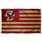 Boston College Eagles Stripes Flag