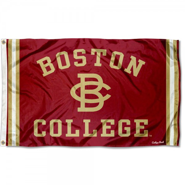 Boston College Eagles Throwback Vault Logo Flag measures 3x5 feet, is made of 100% polyester, offers quadruple stitched flyends, has two metal grommets, and offers screen printed NCAA team logos and insignias. Our Boston College Eagles Throwback Vault Logo Flag is officially licensed by the selected university and NCAA.