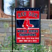 Boston Red Sox 9-Time World Series Champions Garden Flag