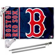 Boston Red Sox B Logo Flag Pole and Bracket Kit