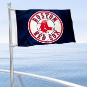 Boston Red Sox Boat and Nautical Flag