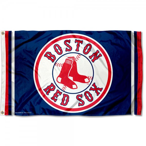 Our Boston Red Sox Flag is double sided, made of poly, 3'x5', has two grommets, and four-stitched fly ends. These Boston Red Sox Flags are Officially Licensed by the MLB.