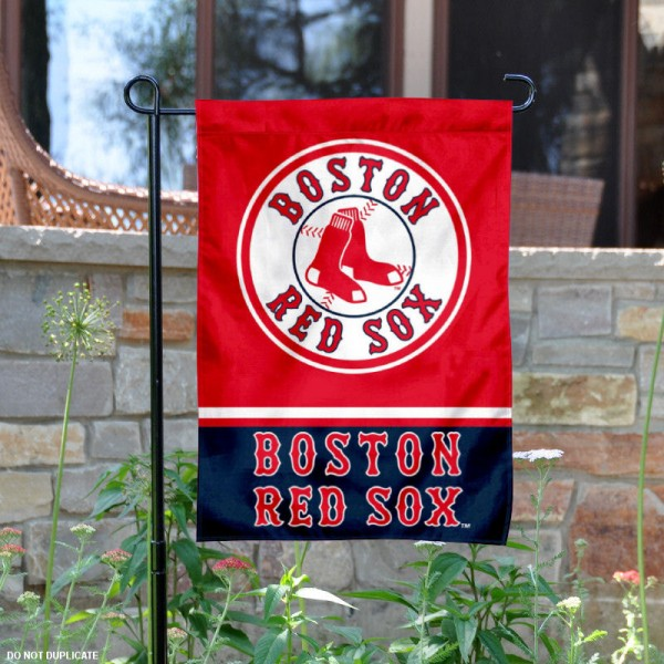 Boston Red Sox Garden Flag is 12.5x18 inches in size, is made of 2-ply polyester, and has two sided screen printed logos and lettering. Available with Express Next Day Shipping, our Boston Red Sox Garden Flag is MLB Genuine Merchandise and is double sided.
