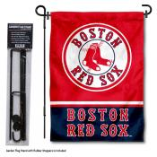 Boston Red Sox Logo Garden Flag and Stand