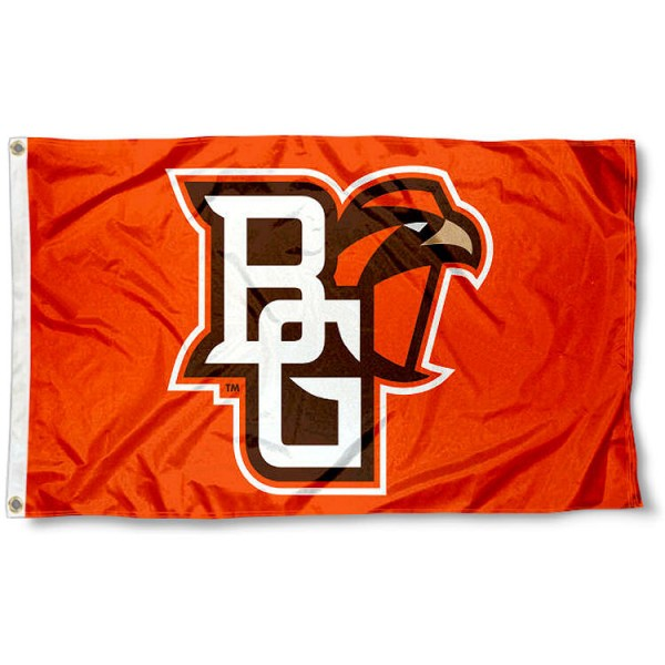Bowling Green State Falcons BG Logo Flag measures 3x5 feet, is made of 100% polyester, offers quadruple stitched flyends, has two metal grommets, and offers screen printed NCAA team logos and insignias. Our Bowling Green State Falcons BG Logo Flag is officially licensed by the selected university and NCAA.