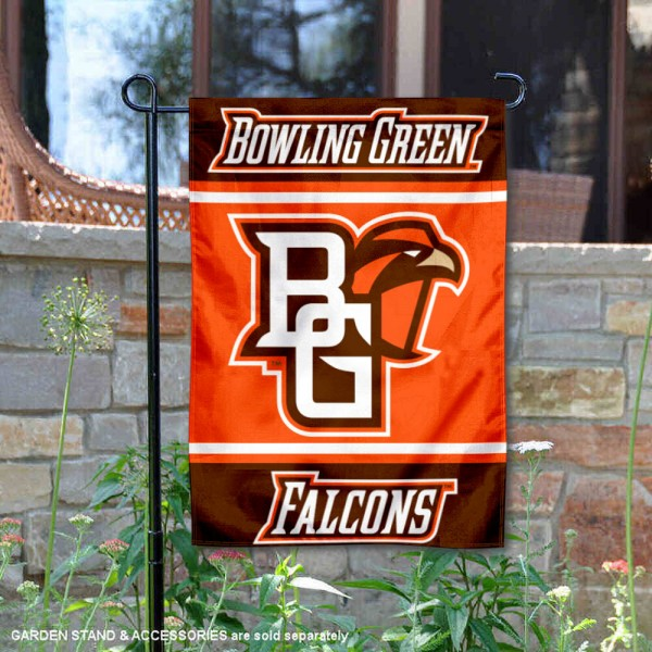 Bowling Green State Falcons Garden Flag is 13x18 inches in size, is made of 2-layer polyester, screen printed logos and lettering. Available with Same Day Express Shipping, Our Bowling Green State Falcons Garden Flag is officially licensed and approved by the NCAA.