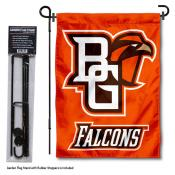 Bowling Green State Falcons Garden Flag and Pole Stand