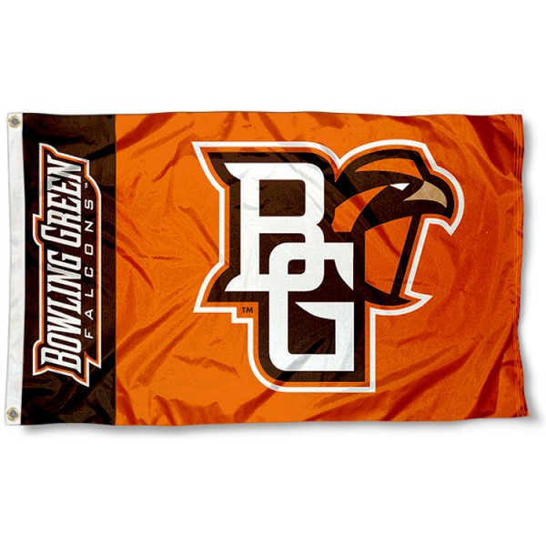 Bowling Green State University Falcons 3x5 Flag measures 3'x5', is made of 100% poly, has quadruple stitched sewing, two metal grommets, and has double sided Team University logos. Our BGSU Falcons 3x5 Flag is officially licensed by the selected university and the NCAA.