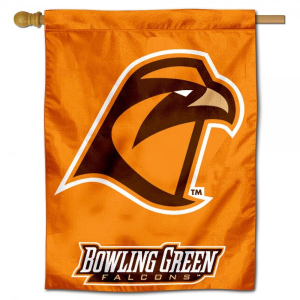 "Bowling Green State University House Flag is constructed of polyester material, is a vertical house flag, measures 30""x40"", offers screen printed athletic insignias, and has a top pole sleeve to hang vertically. Our Bowling Green State University House Flag is Officially Licensed by Bowling Green State University and NCAA."
