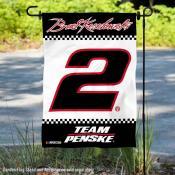 Brad Keselowski NASCAR Driver Double Sided Garden Flag