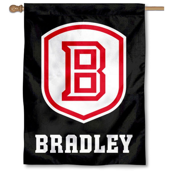 Bradley Braves Blackout Banner Flag is a vertical house flag which measures 30x40 inches, is made of 2 ply 100% polyester, offers screen printed NCAA team insignias, and has a top pole sleeve to hang vertically. Our Bradley Braves Blackout Banner Flag is officially licensed by the selected university and the NCAA.
