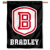 Bradley Braves Blackout Banner Flag