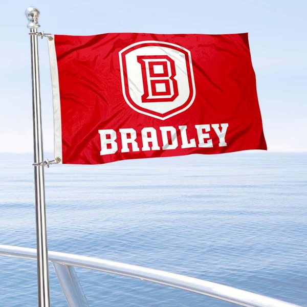 Bradley Braves Boat and Mini Flag is 12x18 inches, polyester, offers quadruple stitched flyends for durability, has two metal grommets, and is double sided. Our mini flags for Bradley Braves are licensed by the university and NCAA and can be used as a boat flag, motorcycle flag, golf cart flag, or ATV flag.