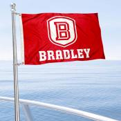 Bradley Braves Boat and Mini Flag