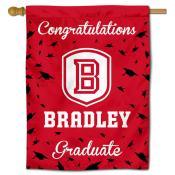 Bradley Braves Congratulations Graduate Flag