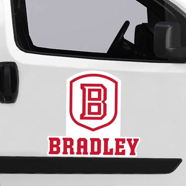 Bradley Braves Large Magnet is ideal for inside or outside uses, car and auto door panels, and a great gift idea. Each magnet is a large 16x16 inches, is made of flexible 20 mil magnetic vinyl and has screen printed school logos and team names and slogans.