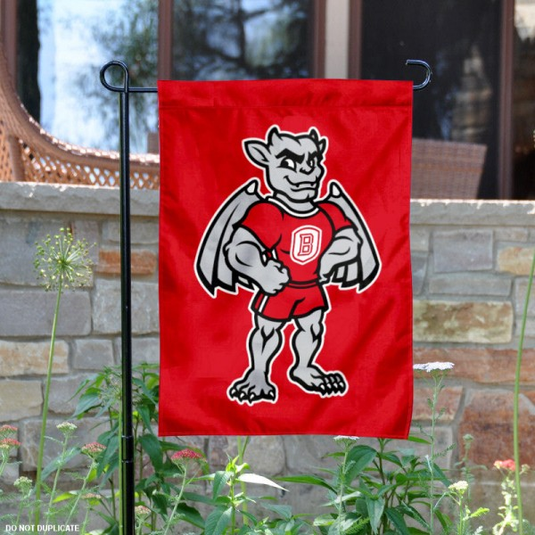 Bradley Braves Mascot Garden Flag is 13x18 inches in size, is made of 2-layer polyester, screen printed Bradley University athletic logos and lettering. Available with Same Day Express Shipping, Our Bradley Braves Mascot Garden Flag is officially licensed and approved by Bradley University and the NCAA.