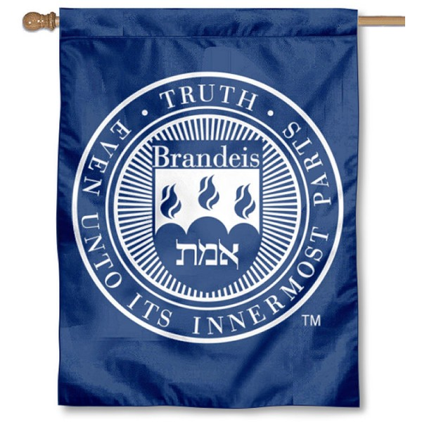 Brandeis Judges Double Sided House Flag is a vertical house flag which measures 30x40 inches, is made of 2 ply 100% polyester, offers screen printed NCAA team insignias, and has a top pole sleeve to hang vertically. Our Brandeis Judges Double Sided House Flag is officially licensed by the selected university and the NCAA.