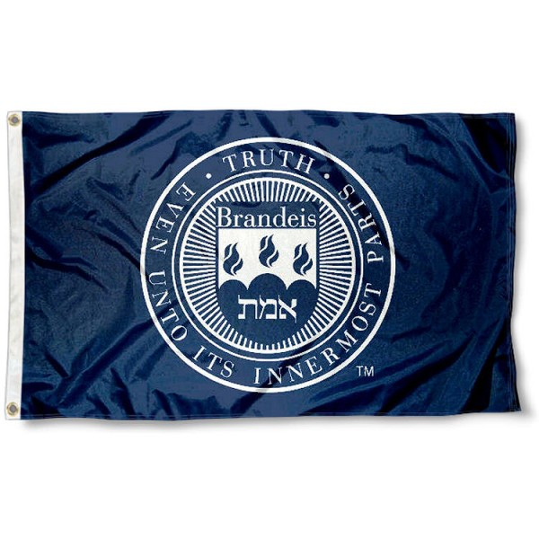 Brandeis Judges Flag measures 3x5 feet, is made of 100% polyester, offers quadruple stitched flyends, has two metal grommets, and offers screen printed NCAA team logos and insignias. Our Brandeis Judges Flag is officially licensed by the selected university and NCAA.