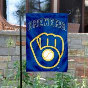 Brewers Retro Glove Logo Garden Flag