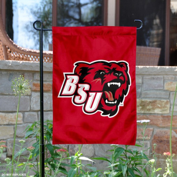 Bridgewater State Bears Logo Garden Flag is 13x18 inches in size, is made of 2-layer polyester with liner, screen printed athletic logos and lettering. Available with Same Day Overnight Express Shipping, Our Bridgewater State Bears Logo Garden Flag is officially licensed and approved by the university, college and the NCAA.
