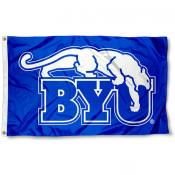 Brigham Young Cougars BYU Royal Blue Flag