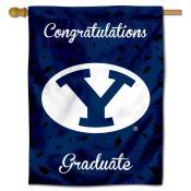 Brigham Young Cougars Congratulations Graduate Flag
