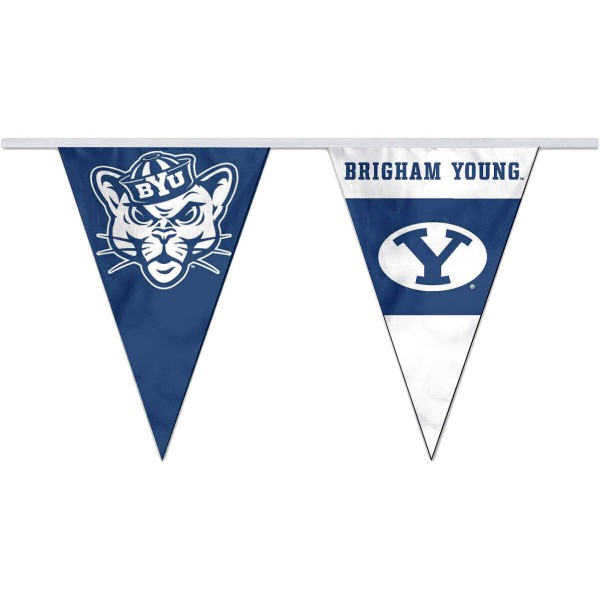 Brigham Young Cougars Pennant String Flags are 35 feet in total length, are made of polyester, includes 12x8 inch streamers, and are screen printed. Each is Offically Licensed.