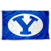 Brigham Young Cougars Royal Blue Flag