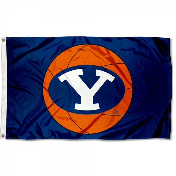 Brigham Young University Basketball Flag measures 3'x5', is made of 100% poly, has quadruple stitched sewing, two metal grommets, and has double sided Team University logos. Our Brigham Young University Basketball Flag is officially licensed by the selected university and the NCAA.
