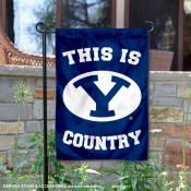 Brigham Young University Country Garden Flag