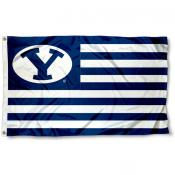 Brigham Young University Striped Flag