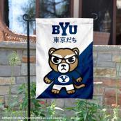Brigham Young University Tokyo Dachi Mascot Yard Flag