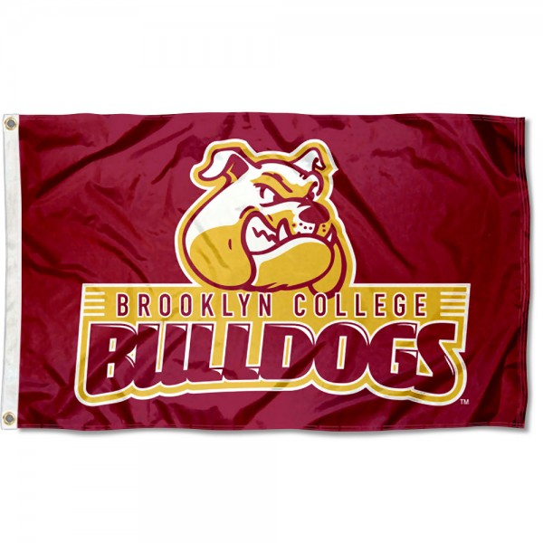 Brooklyn College Bulldogs Flag measures 3x5 feet, is made of 100% polyester, offers quadruple stitched flyends, has two metal grommets, and offers screen printed NCAA team logos and insignias. Our Brooklyn College Bulldogs Flag is officially licensed by the selected university and NCAA.