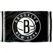 Brooklyn Nets Black Team Flag