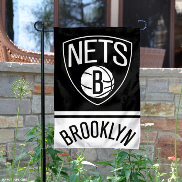 Brooklyn Nets Garden Flag is 12.5x18 inches in size, is made of 2-ply polyester, and has two sided screen printed logos and lettering. Available with Express Next Day Shipping, our Brooklyn Nets Garden Flag is NBA Genuine Merchandise and is double sided.