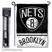Brooklyn Nets Garden Flag and Flagpole Stand