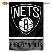 Brooklyn Nets Logo Double Sided House Flag
