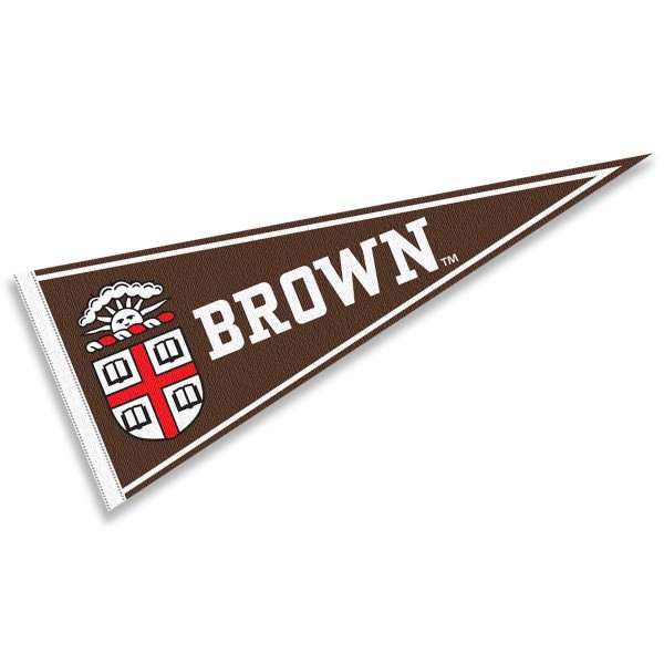 Brown Felt Pennant consists of our full size pennant which measures 12x30 inches, constructed of felt, single sided imprinted, and offers a pennant stick sleeve. This Brown Felt Pennant is officially licensed by the selected University and the NCAA.