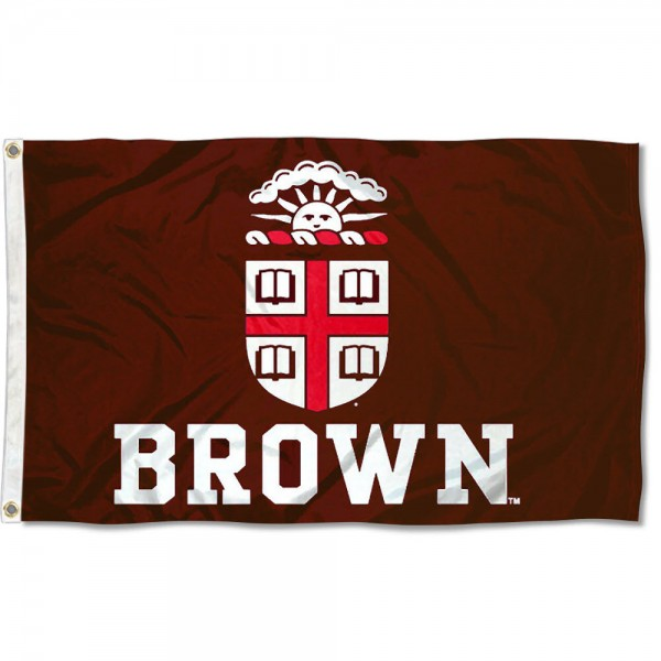 This Brown Flag measures 3'x5', is made of 100% nylon, has quad-stitched sewn flyends, and has two-sided Brown printed logos. Our Brown Flag is officially licensed and all flags for Brown are approved by the NCAA and Same Day UPS Express Shipping is available.