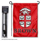Brown University Garden Flag and Stand