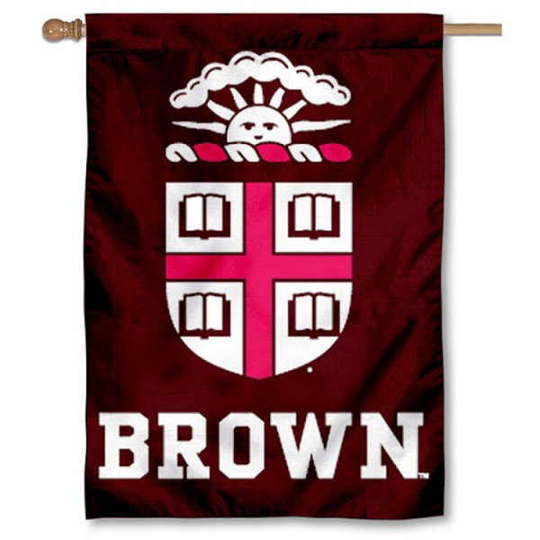 Brown University House Flag is a vertical house flag which measures 28x40 inches, is made of 2 ply 100% nylon, offers dye sublimated NCAA team insignias, and has a top pole sleeve to hang vertically. Our Brown University House Flag is officially licensed by the selected university and the NCAA