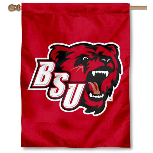 BSU Bears Banner Flag is a vertical house flag which measures 30x40 inches, is made of 2 ply 100% polyester, offers screen printed NCAA team insignias, and has a top pole sleeve to hang vertically. Our BSU Bears Banner Flag is officially licensed by the selected university and the NCAA.